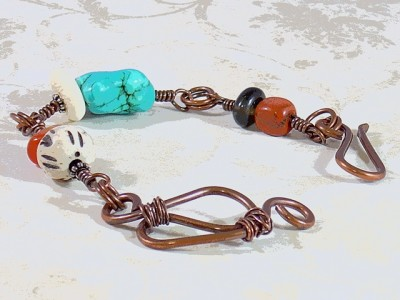 Handmade Copper & Gemstone Bracelet