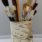 Birch Bark Covered Can