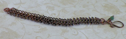 Handcrafted Copper European 4-1 Chainmaille Bracelet