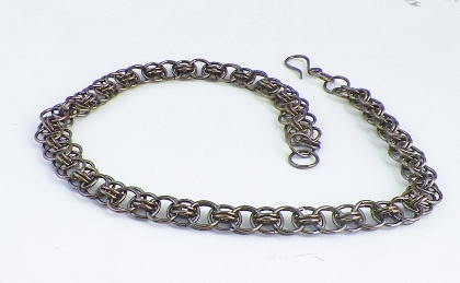 Helm Weave Chainmaille Necklace