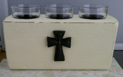 How to Make a Rustic Candle Holder