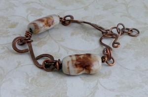 porcelain and copper bracelet