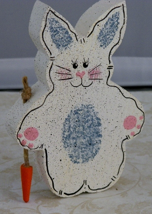 Handcrafted Whimsical Wooden Rabbit