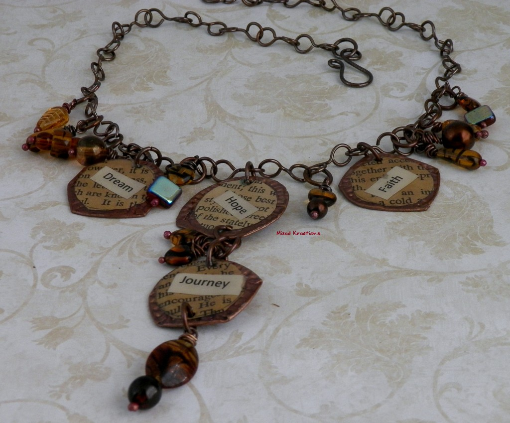 One of a kind bottle cap necklace