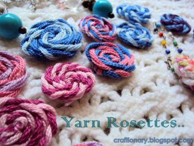 Left Over Yarn Rosettes