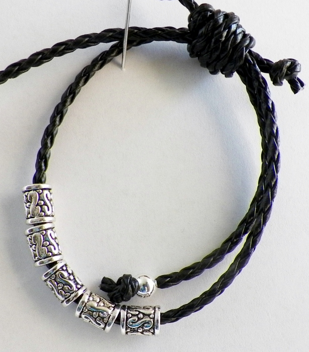 single sliding knot bracelet black cord bracelet with sliding knot mixed kreations 9498