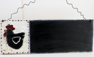 Hand painted chicken chalk board