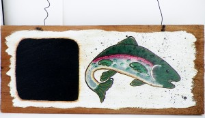 Handcrafted Fish Chalk Board