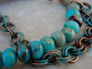 copper and jasper bracelet