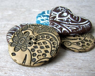 DIY Polymer Clay Buttons