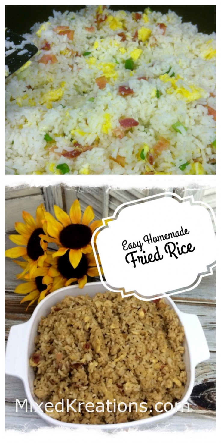 easy homemade fried rice recipe / diy fried rice recipe #Diy #FriedRiceRecipe #recipe MixedKreations.com