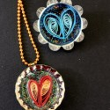 DIY Quilled Heart Jewelry