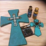 DIY Faux Leather Cross With Wings