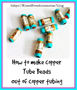how to make copper tube beads