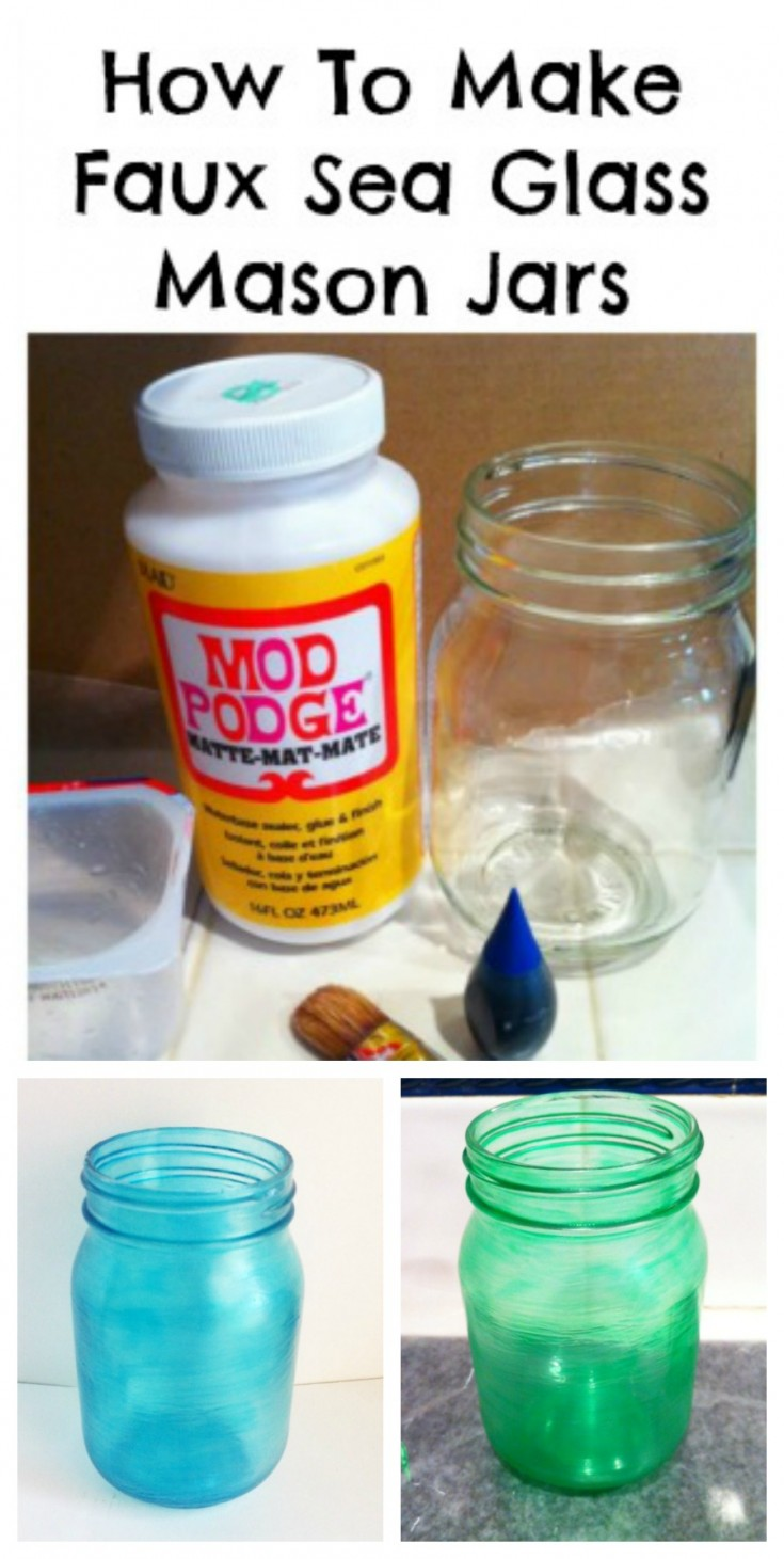 how to make faux sea glass from jars / diy sea glass. #diy #SeaGlass #Jarcrafts #repurposed #upcycled MixedKreations.com