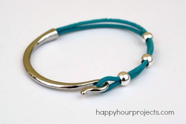 Curved Clasp Leather Bracelet – Tutorial
