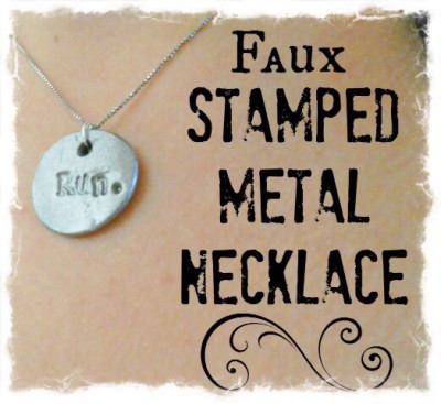 DIY Faux Stamped Necklace