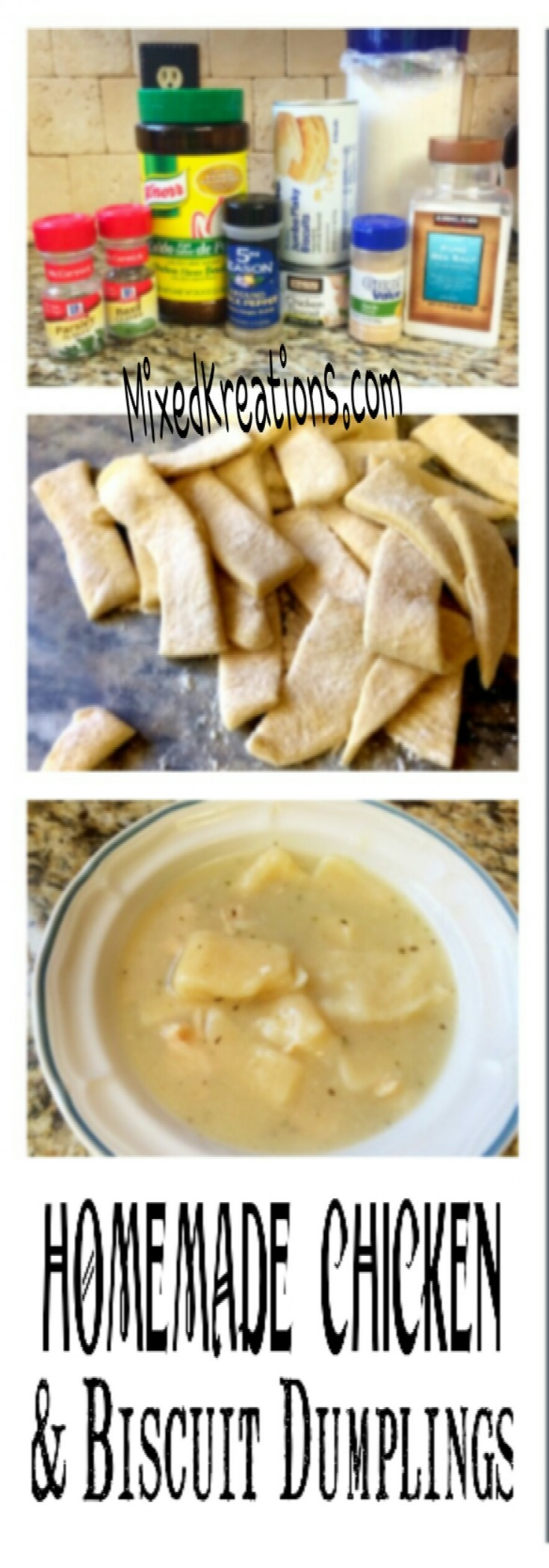 Easy Homemade Chicken and biscuit dumplings