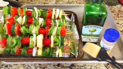 Easy Homemade Veggie Kabobs