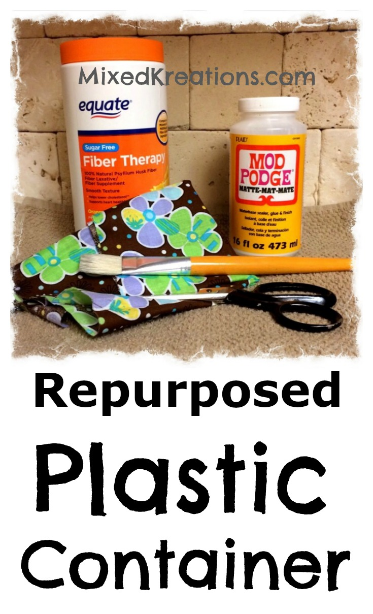 repurposed plastic container