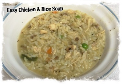 Easy Chicken & Rice Soup Recipe