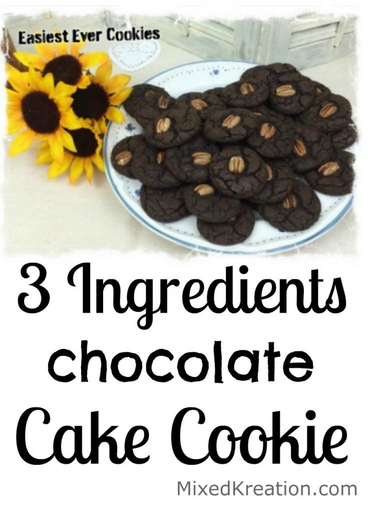 Easy chocolate cake cookies pinnable