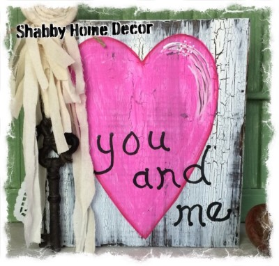 You & Me Heart Home Decor