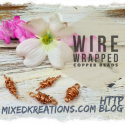 Wire wrapped copper bead