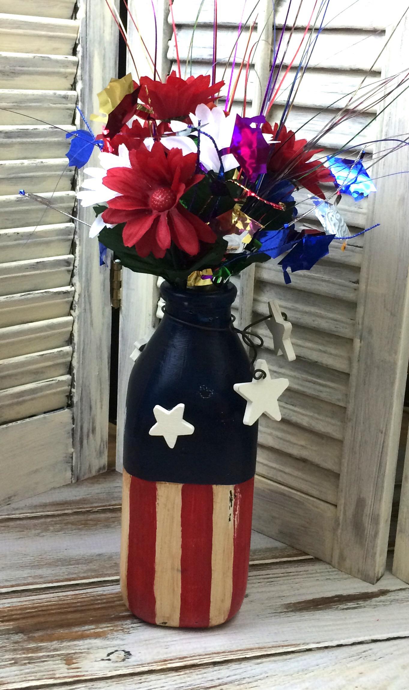 diy patriotic vase