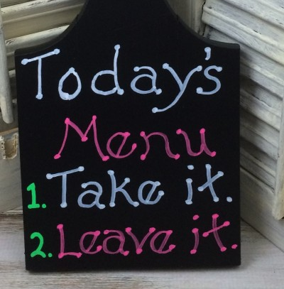 Today's menu board