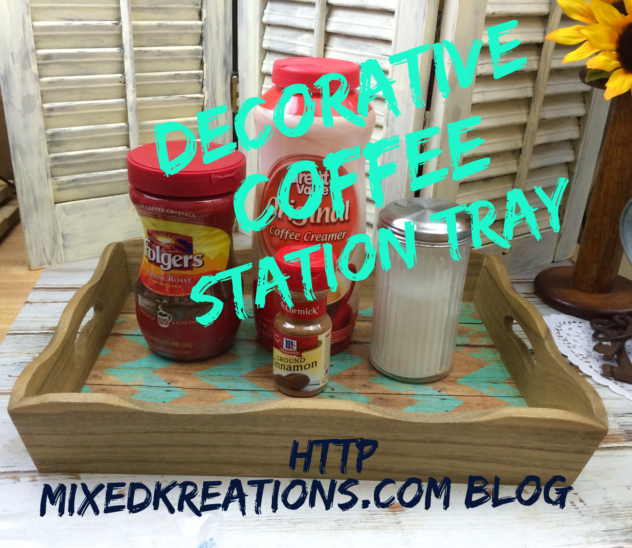 Decorative Coffee Station Tray