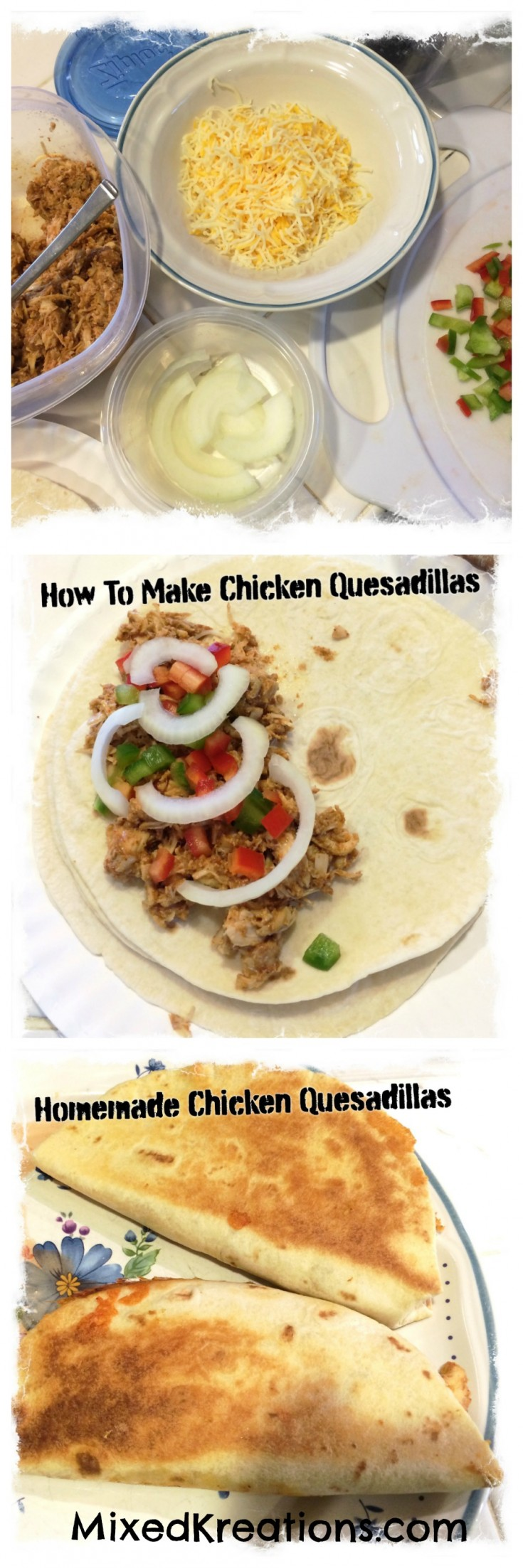 how to make homemade chicken Quesadilla