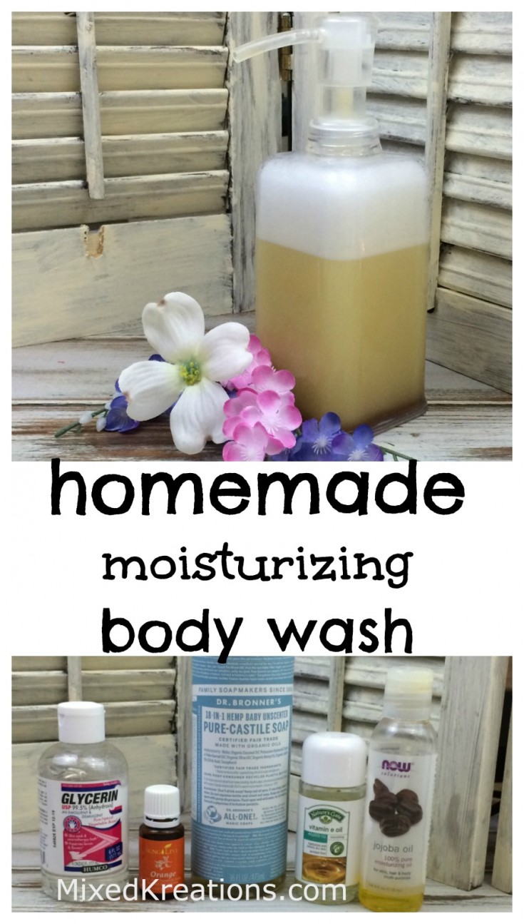How to make homemade moisturizing body wash | diy body wash #HomemadeBodyWash #diy #NaturalRecipe MixedKreations.com