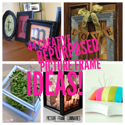 44 creative ways to repurpose picture frames