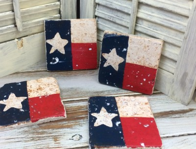 Texas Tile Coasters