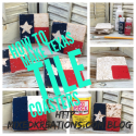 How to make Texas Tile coasters