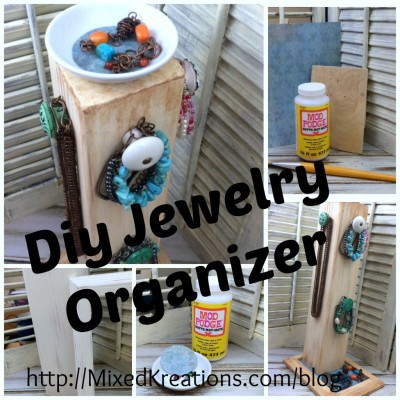 How To Make An Upcycled Jewelry Organizer