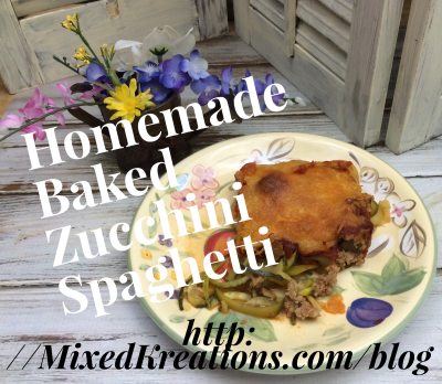 homemade baked zucchini spagetti