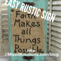 easy rustic sign