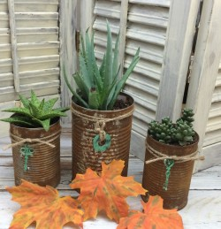 how to make rusty cans