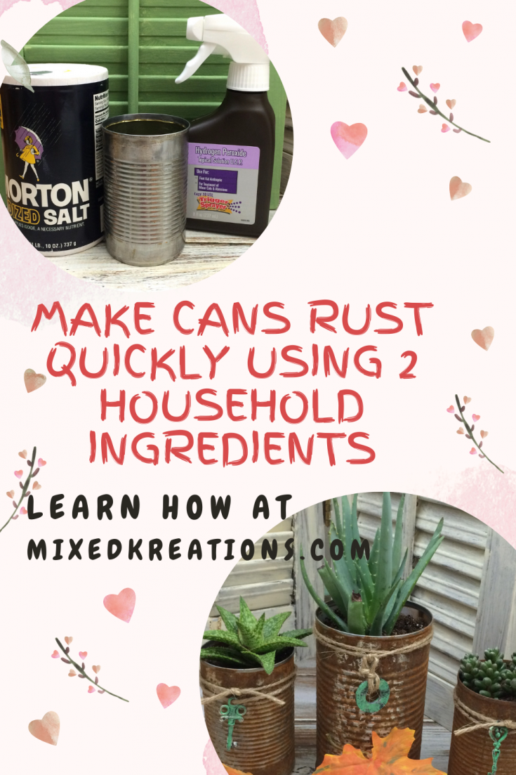 How to make cans rust quickly