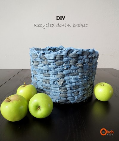 recycled denim basket