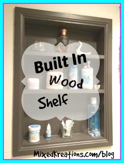 Built in wood shelf