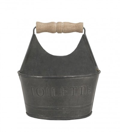 country toilette tin caddy