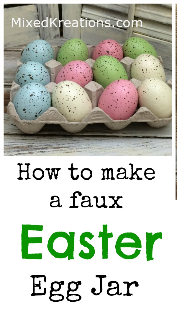How to turn a glass jar into a fun diy Easter egg jar