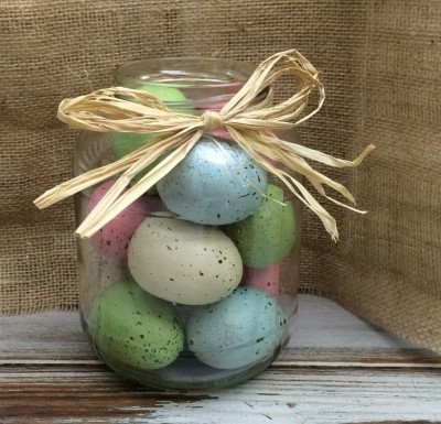 How to make a Easter egg jar