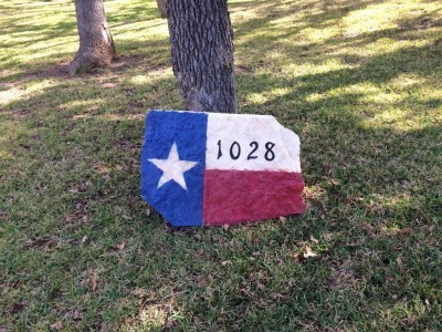 How To Make A Texas Flag Address Sign