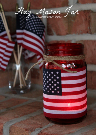 Patriotic-Flag-Mason-Jar-Candle-Holder-Craft-