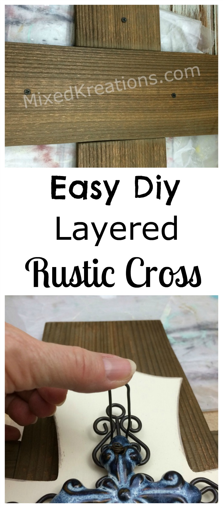 easy diy layered rustic cross