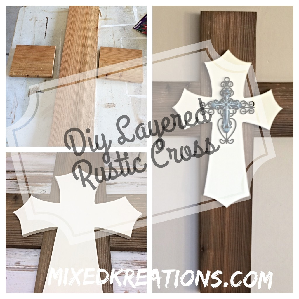 Easy Diy Layered Rustic Cross From Wood